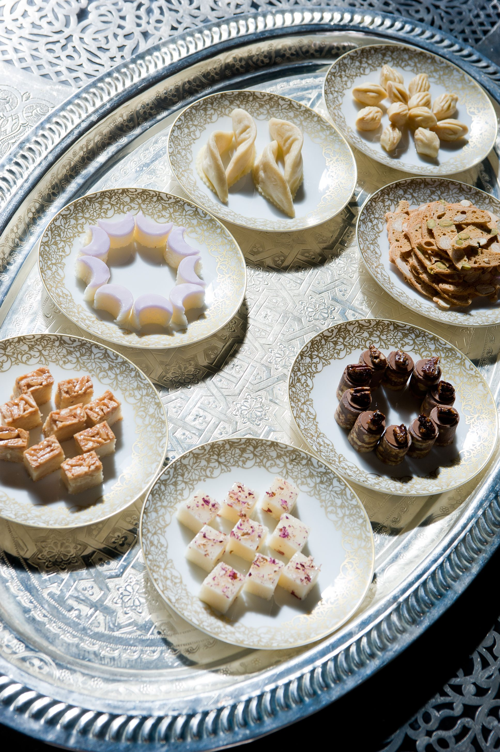 Selection of moroccan pastries at La Grande Table Marocaine ...