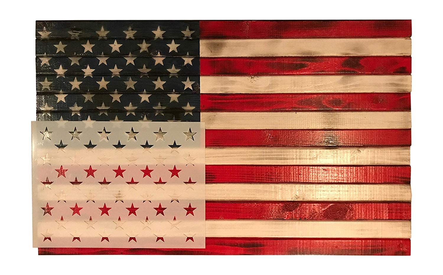 Amazon Com 50 Star Stencil Template 10 5 X 15 Actual Size 10 5 X 14 82 For Making Wood American Flags And W American Flag Wood Stencil Template Star Stencil