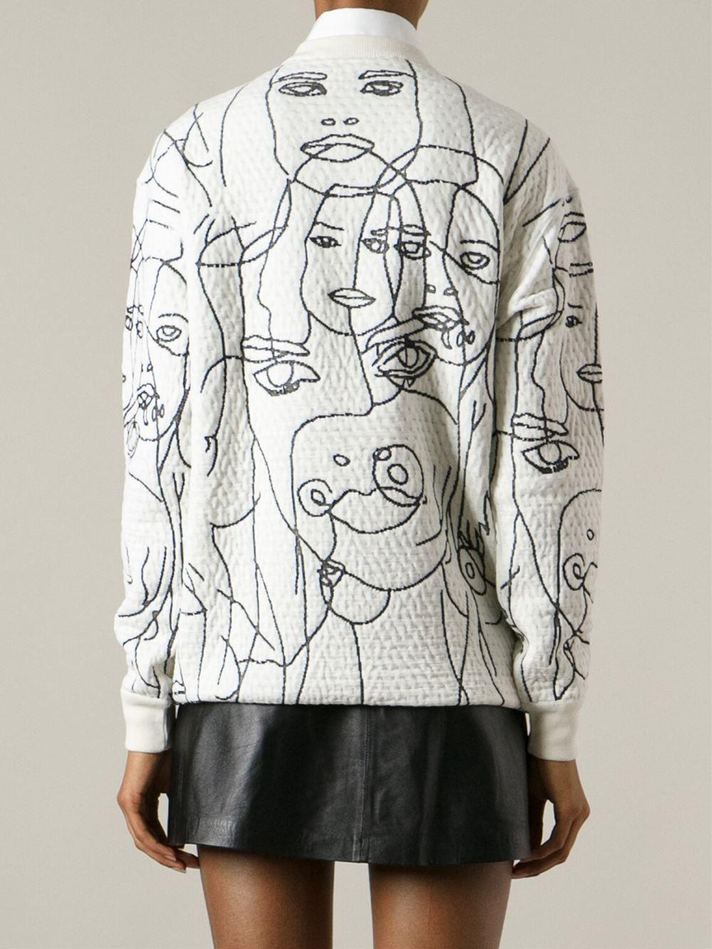 Stella McCartney embroidered faces sweatshirt