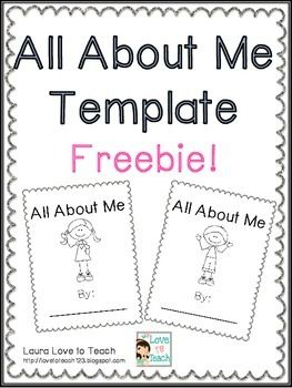 Free All About Book Printables All About Me Preschool All