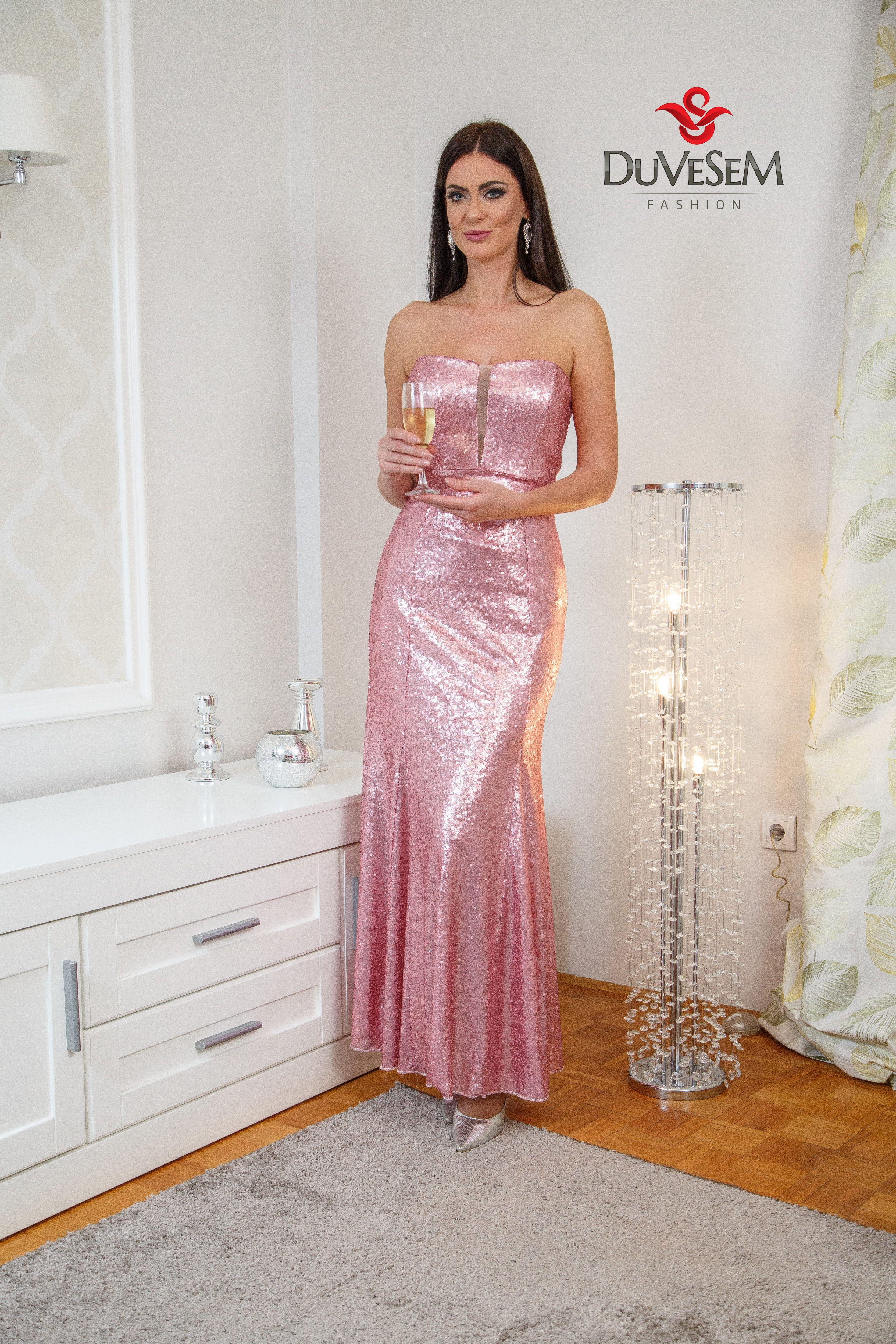 Malo Roze Boje Duvesem Fashion Rozahaljina Dugackahaljina