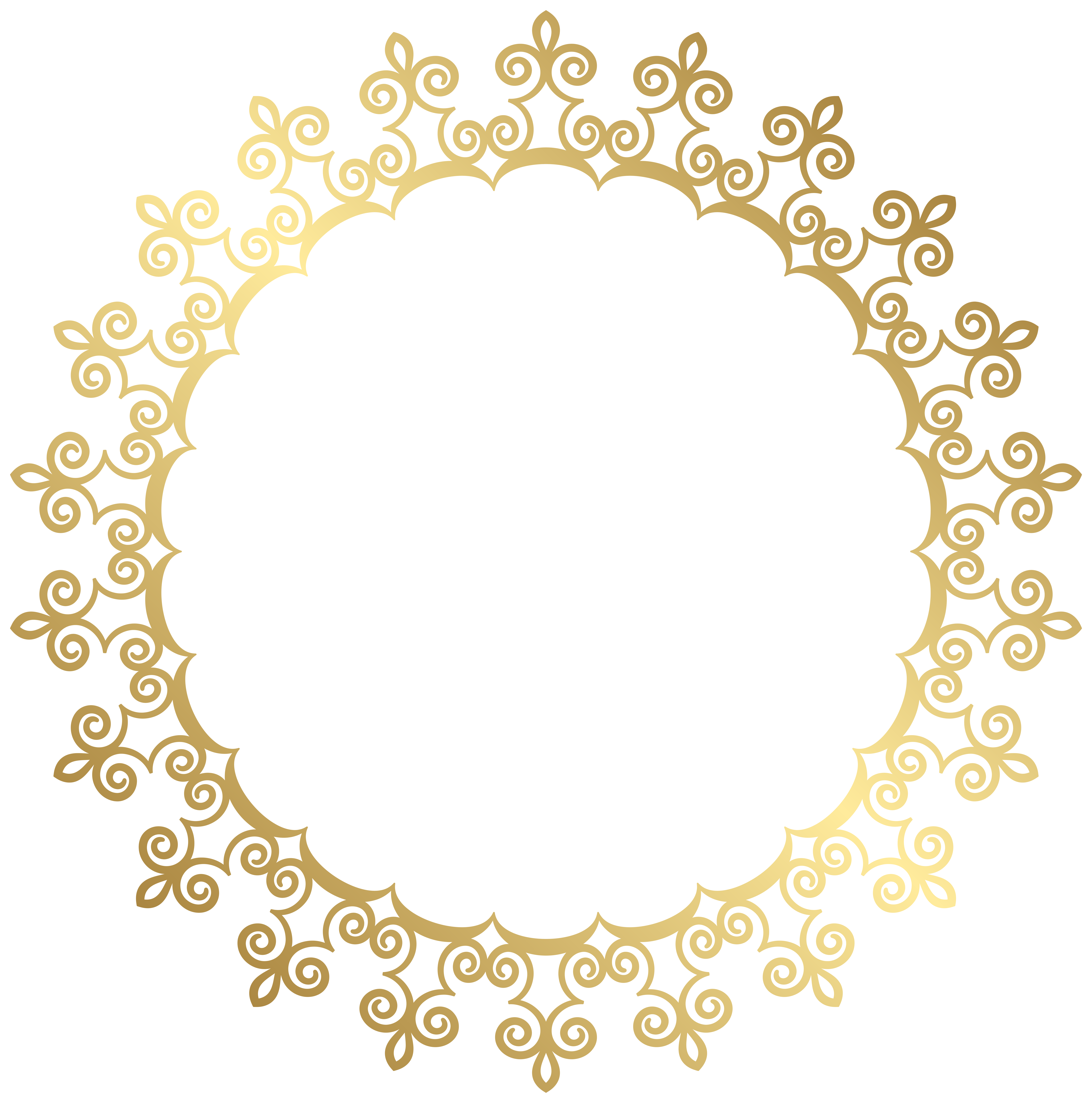 round gold border frame transparent clip art image �амки