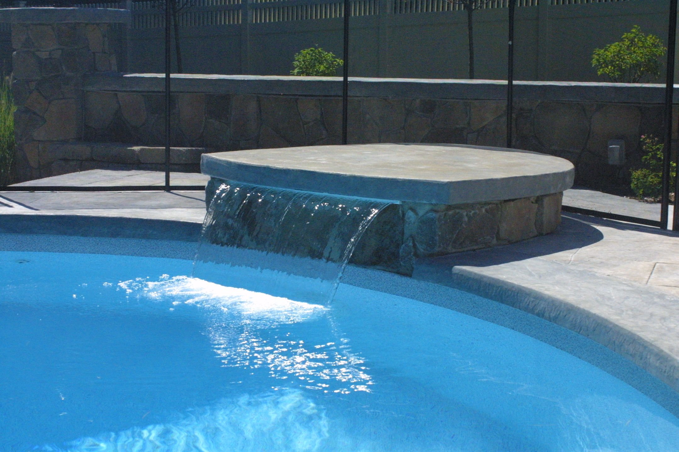 Diving Rock With Waterfall Water Features Pinterest Pool Remodel Backyard And Patios