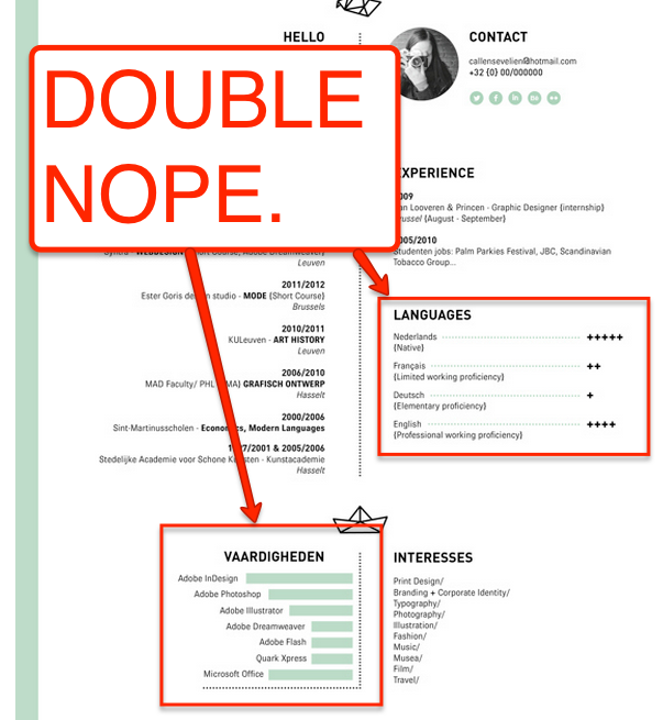 This Is By Far The Dumbest Resume Trend Resume Genius Infographic Resume Language Proficiency Levels Resume