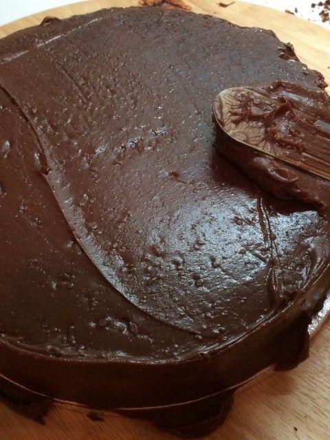 Ganache Schokolade Überzug Torte