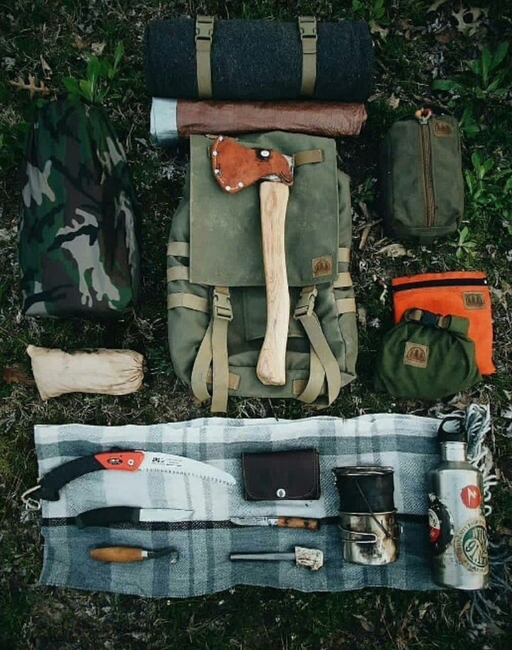 Full bushcraft loadout and packing list Survival gear