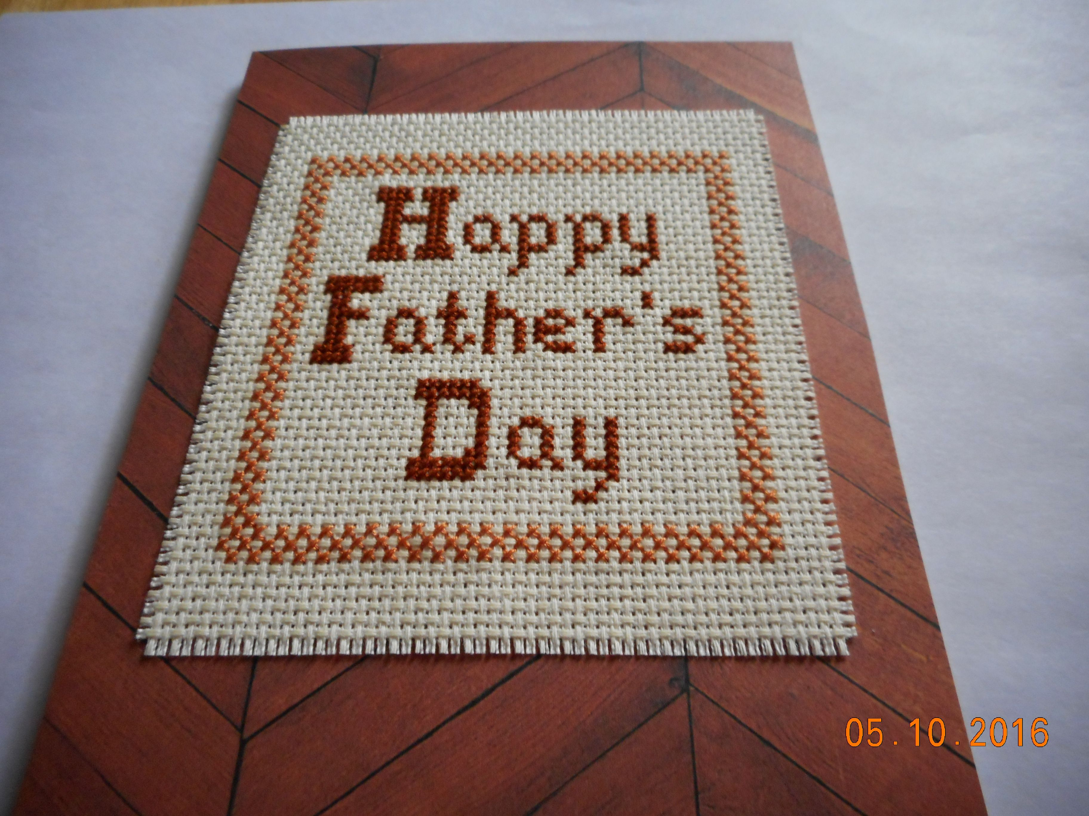 cross stitch card available in etsy shop DebbyWebbysCards