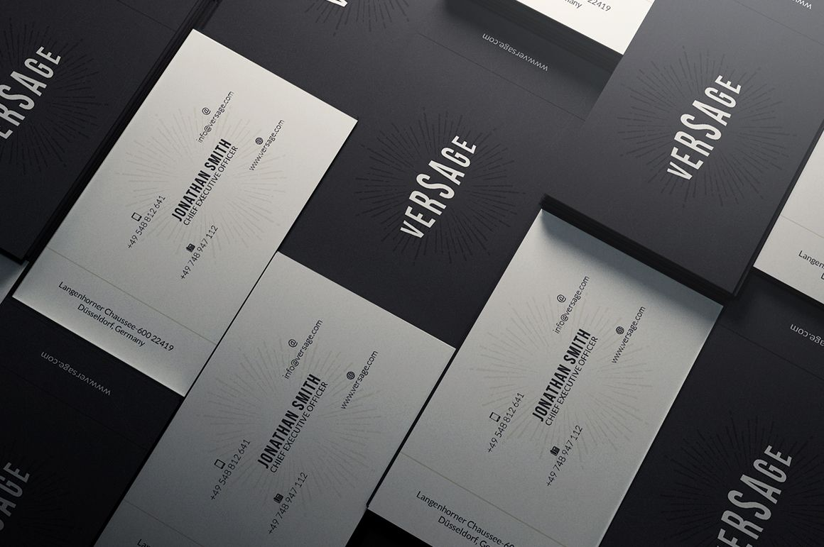 simple elegant business cardmarvel on creative market