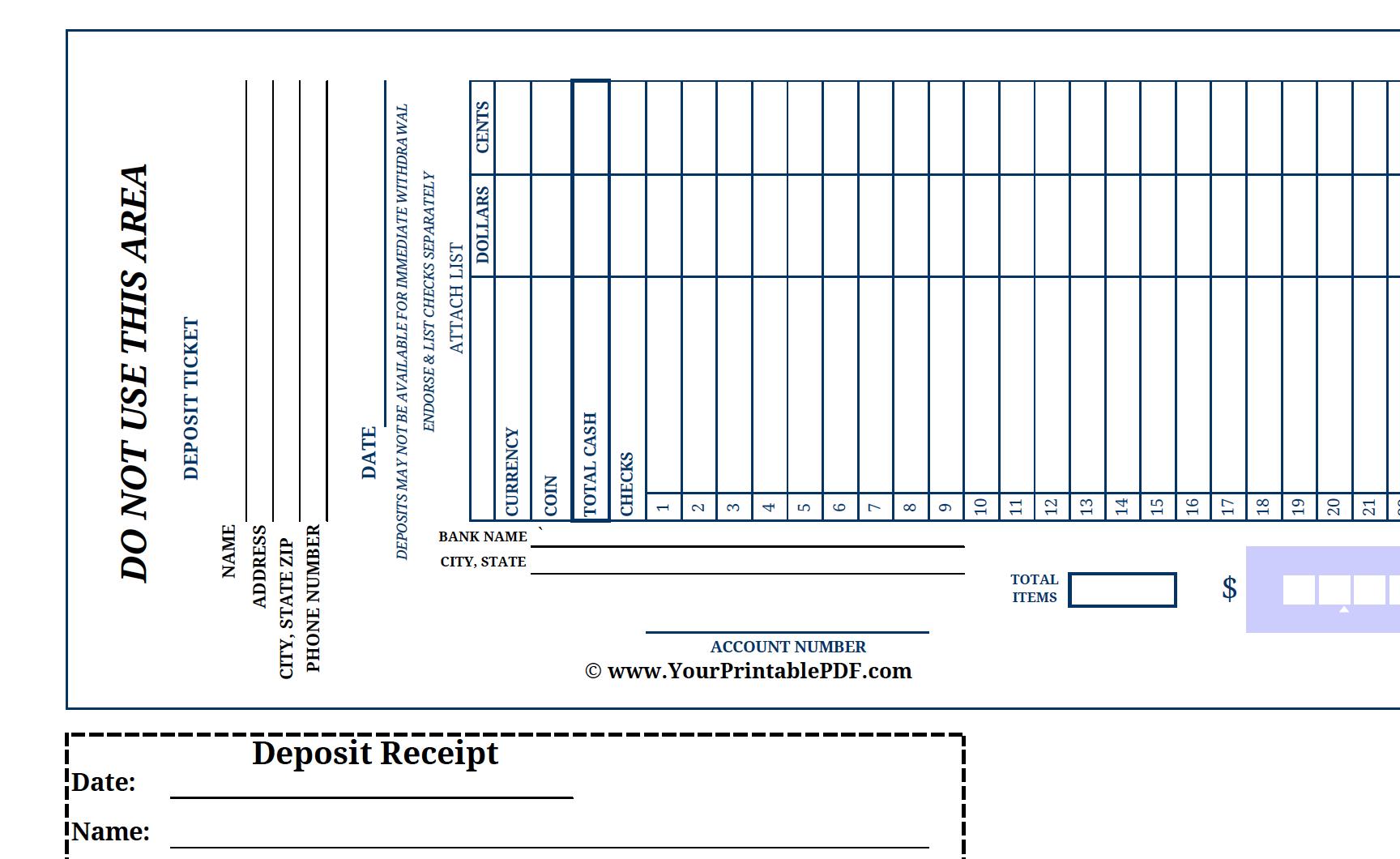 print deposit slips Template – Deposit Slip Template