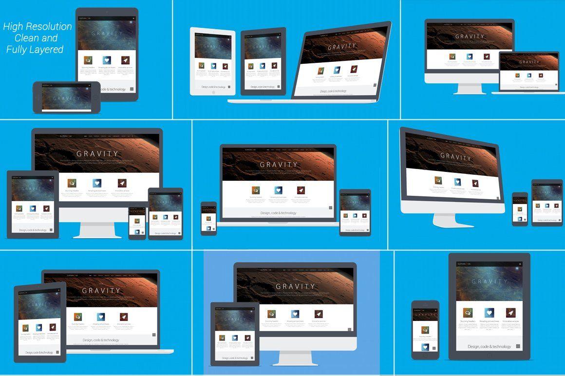 10 Flat Responsive web mockups Responsive web, Iphone