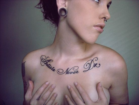 Best Female Chest Tattoos