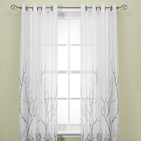 Eyelet Natural Hand Block Printed Door 1pcs Set White curtain Panels Windows Tree Curtain Curtains