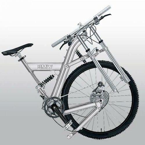 2001 Bmw Folding Mountain Bike Folded Folding Bike Bicycle