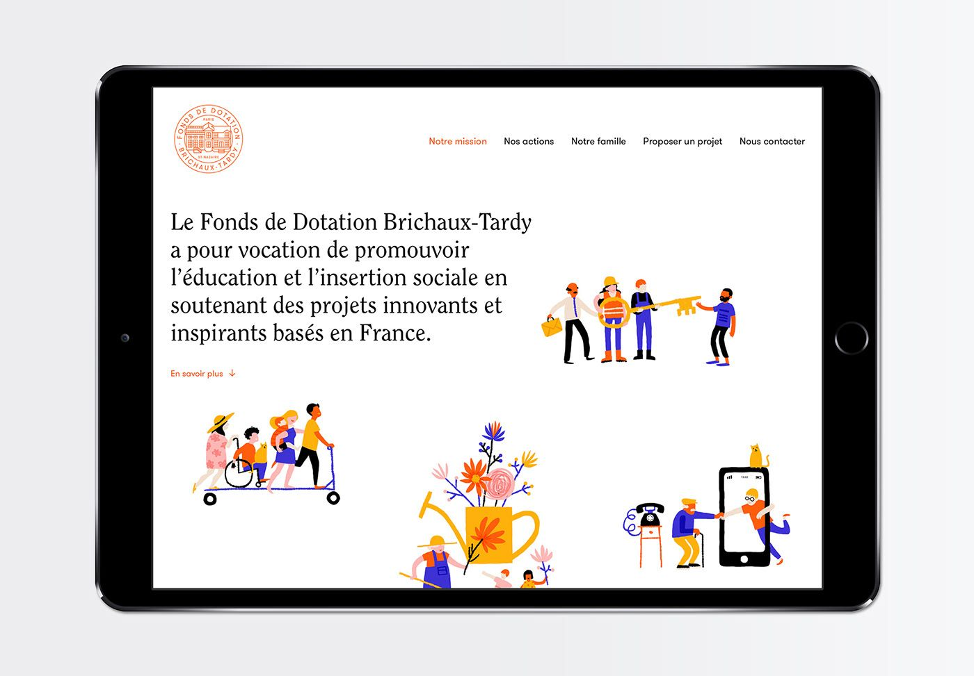 Fonds de Dotation BrichauxTardy on Behance Digital