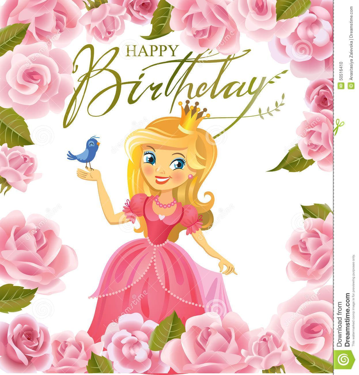Verjaardag Kind 6 Jaar Happy Birthday Happy Birthday Princess