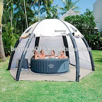 bestway lay z spa pavillon transparent inflatable pool. Black Bedroom Furniture Sets. Home Design Ideas