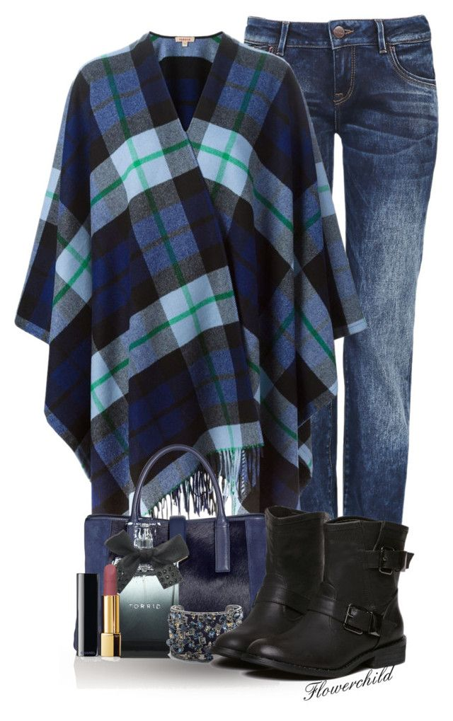 """""""Poncho Cape"""" by flowerchild805 ❤ liked on Polyvore featuring P.A.R.O.S.H., Torrid, Chanel and Alexis Bittar"""