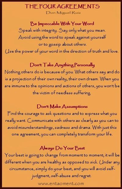 4 Agreements For Healing Your Life Toltec Tradition Don Miguel
