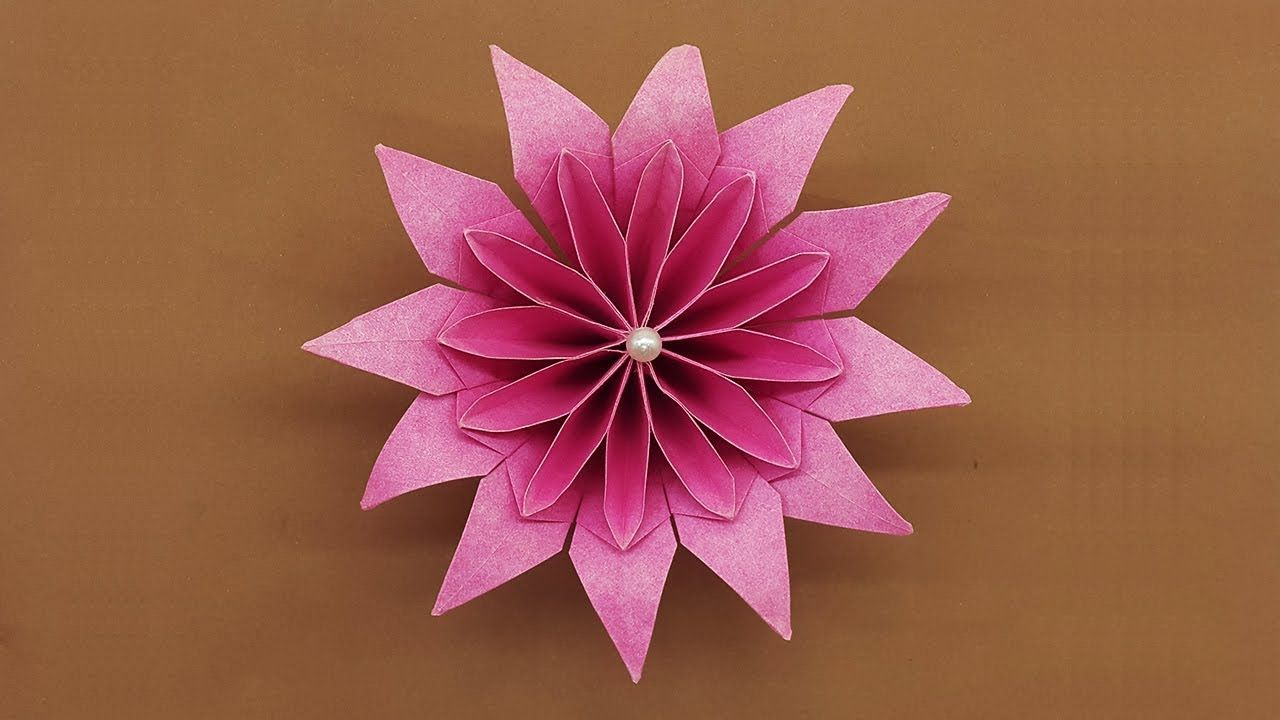 How To Make Beautiful Paper Flowers Easy Diy Paper Craft Nice