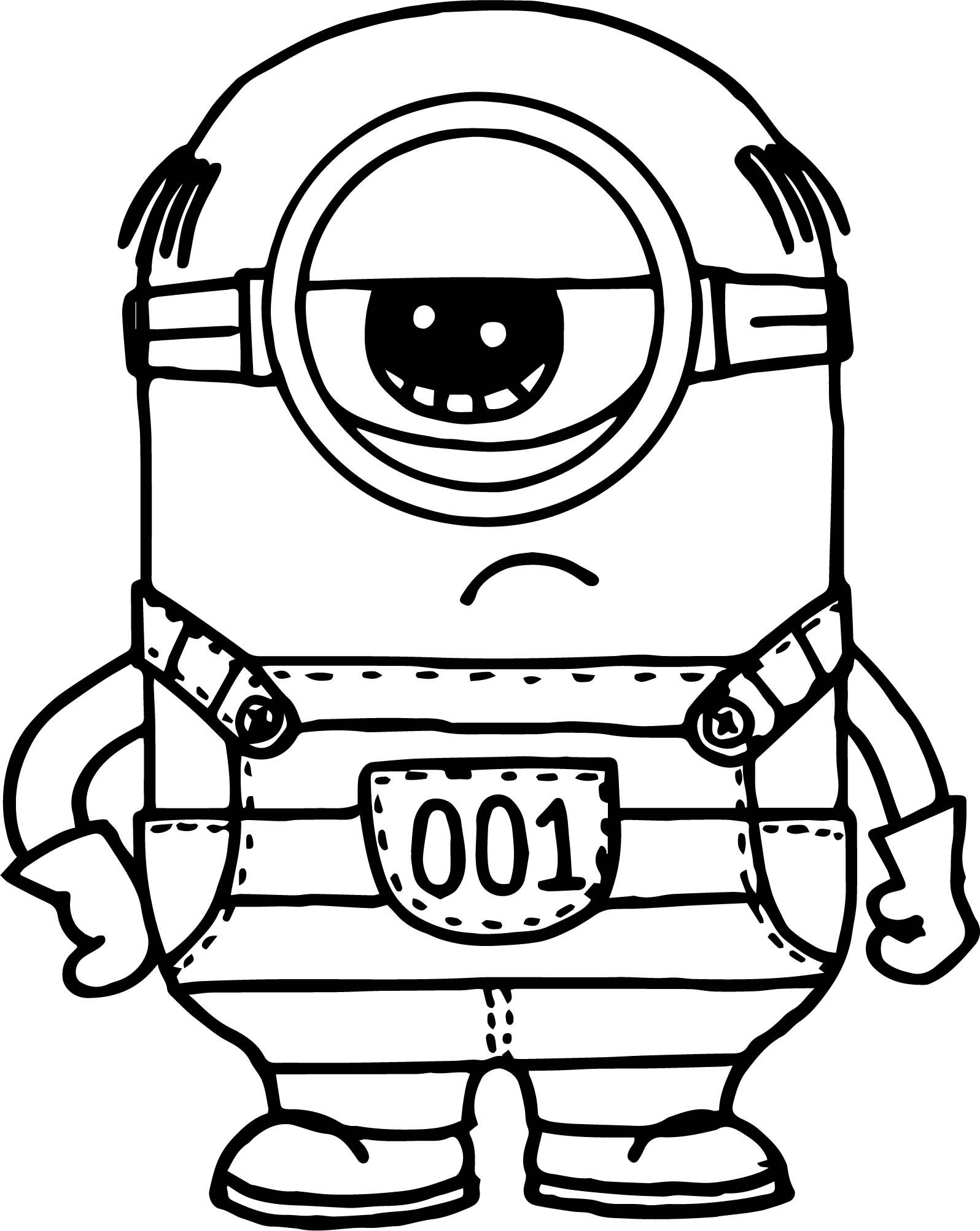 Cool Despicable Me 3 Minion Coloring Page Minion Coloring Pages