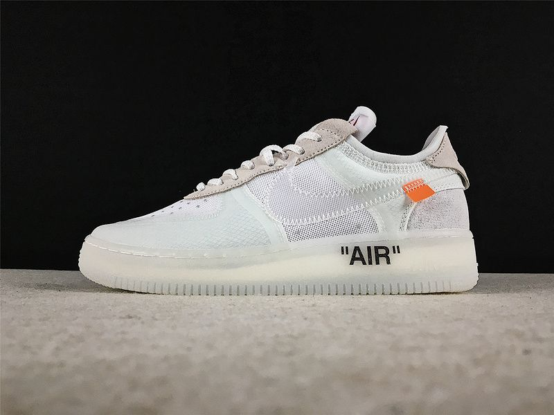 4e4583d18780 Cheapest OFF-WHITE x Nike Air Force 1 White White-Sail Skate Shoes  AO4606-100