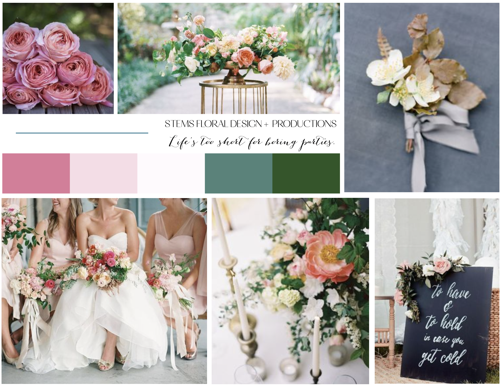 Wedding Inspiration Stems Fl Design Mood Board Vision Austin Florist