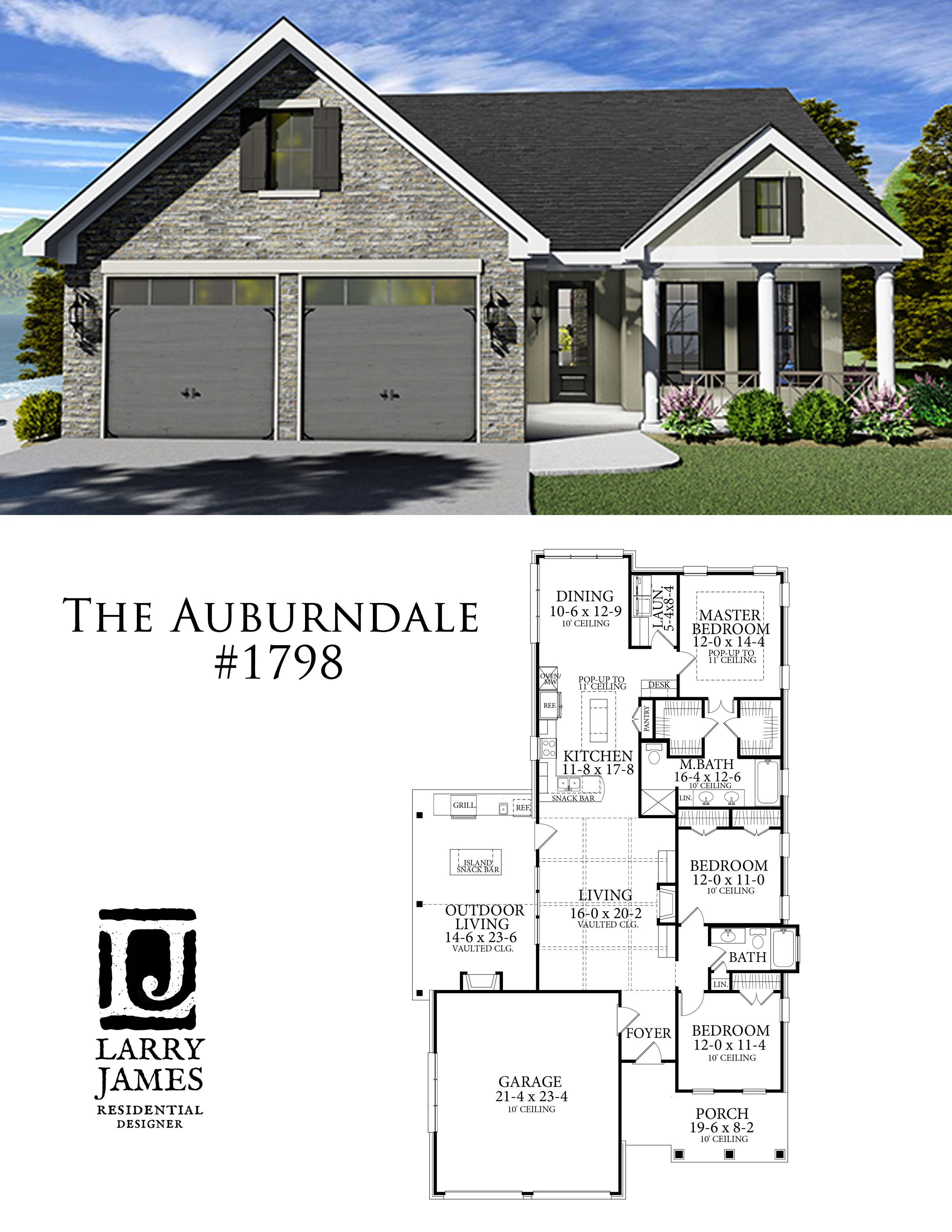 The Auburndale House Plan House Layout Plans House Blueprints House Layouts