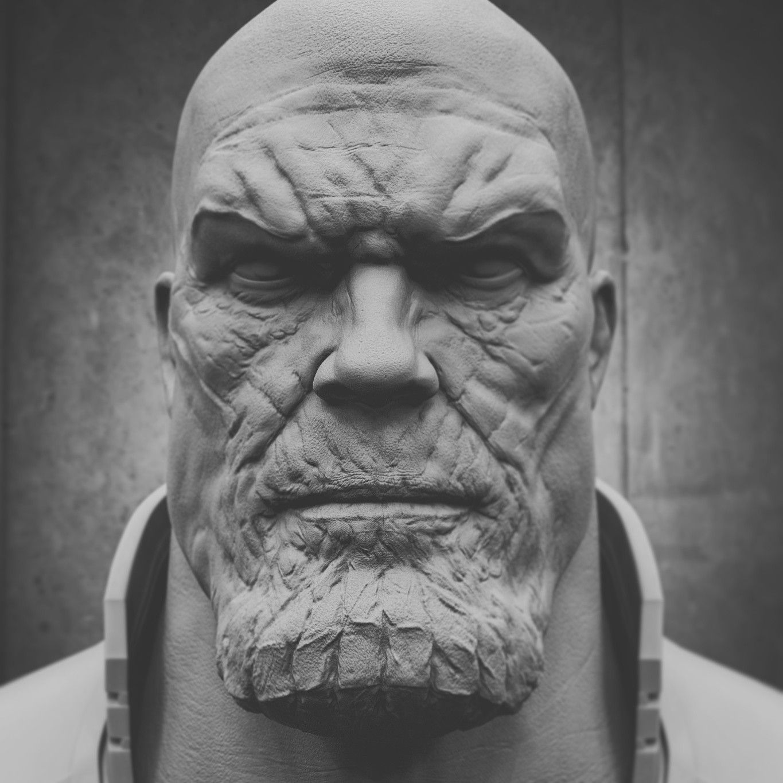 Thanos By Vladimir Minguillo Thanos Face Anatomy Closeup Creature Marvel Avengers Sculpture Sculpt Zbrush Keyshot 3d Thanos Face Cool Artwork Marvel