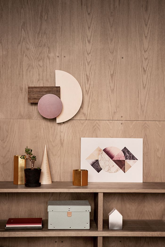 ferm living- dusty pinks, earthy with copper clash
