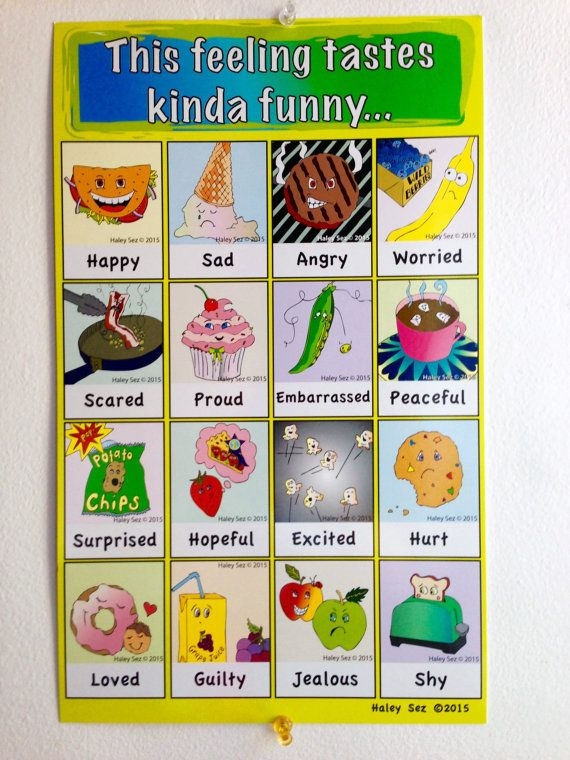 Funny Food Feelings Chart  Feelings Chart And Parents