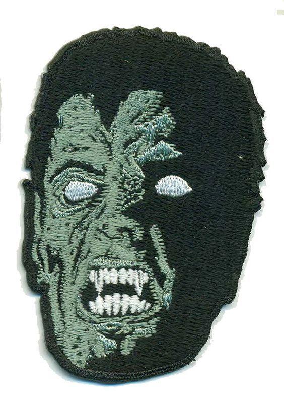 VAMPIRE Iron-On Patch Dr. Dracula Wolf Man Monster Horror Punk Rock Spook Show Freak VooDoo Shrunken Head Demon Hipster Creature Goth Gothic: