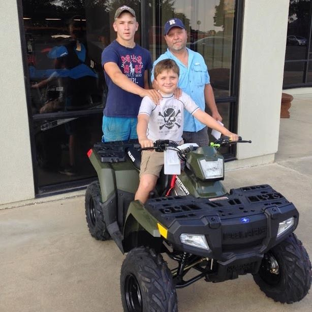 Thanks to Blake, Hunter and Will Phenice from Brooklyn MS for getting a 2016 Polaris Sportsman 110 at Hattiesburg Cycles