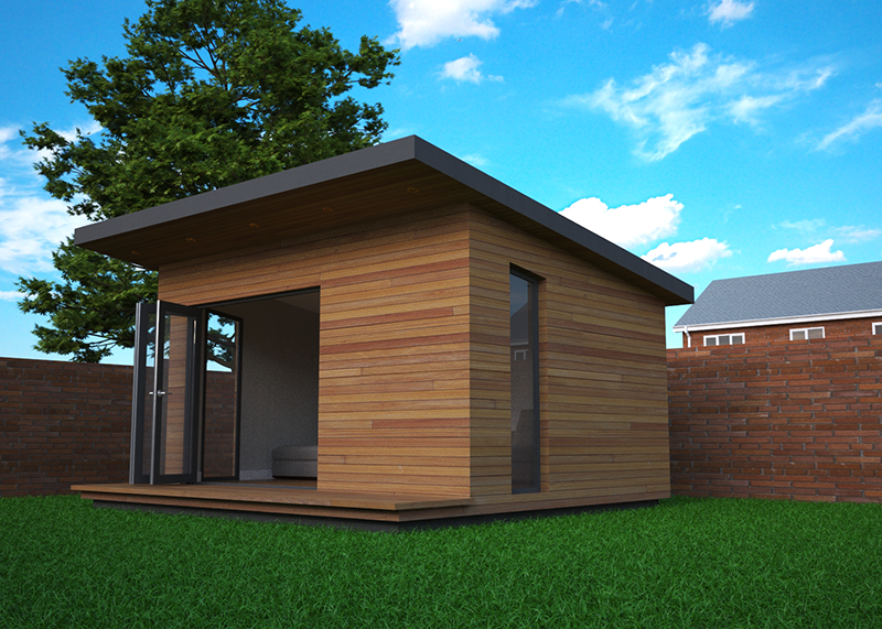 Mono Pitched Garden Offices Can Have A More Airy Feel Than Flat Roof Designs
