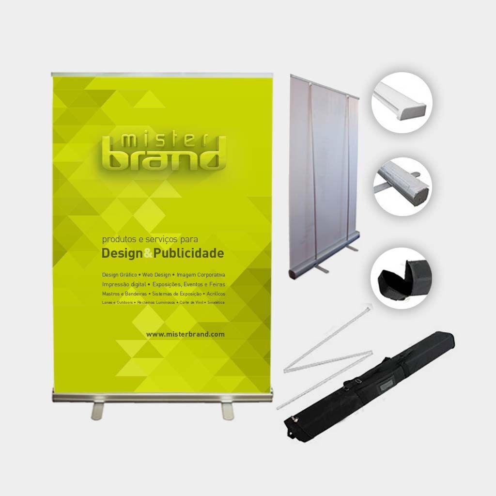 Roll-up Standard, banner, roll-up, publicidade, display, poster, stand, loja, supermercado, portatil, sinaletica, mister brand