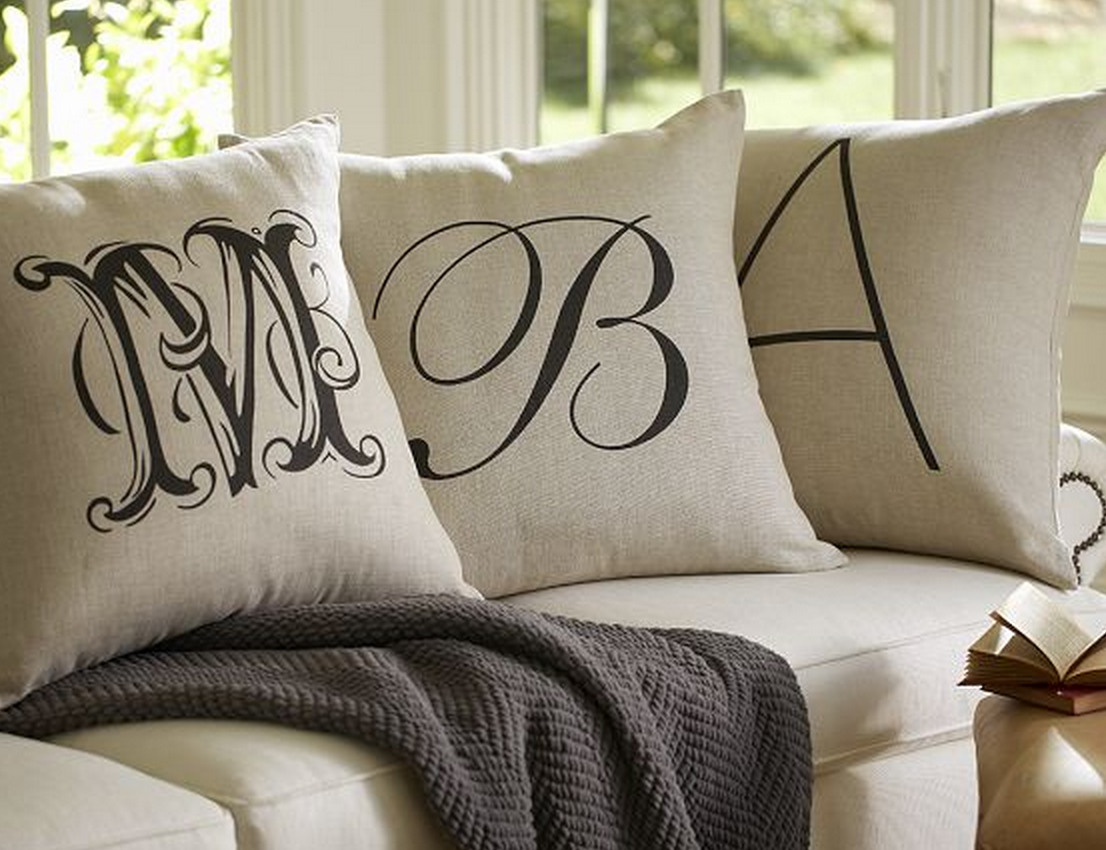 custom pillow monograms pinterest monogram pin pillows