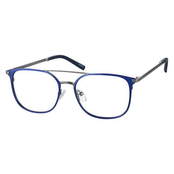 b1397f210d6 Zenni Mens Square Prescription Eyeglasses Bl