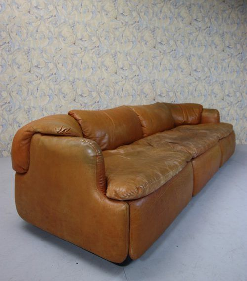 Antiques Atlas Vintage Mive Leather Sofa By Saporiti