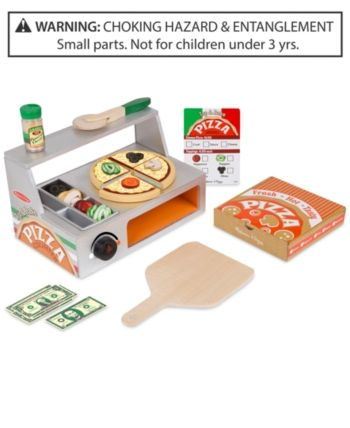 Melissa Doug Top Bake Wooden Pizza Counter Set Melissa