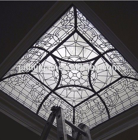 Glass Roof Of Modern Commercial Building With Led Light Glass Roof Stained Glass Glass