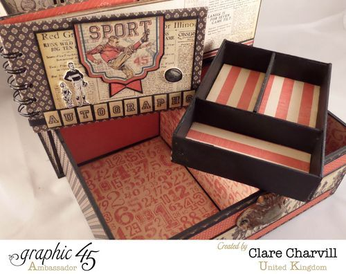 Sporting Keepsake Box by Clare Charvill using Good ol' Sport #graphic45