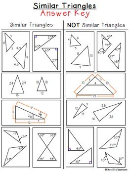 Similar Triangles Sorting Activity Freebie Similar Triangles Sorting Activities Triangle Worksheet