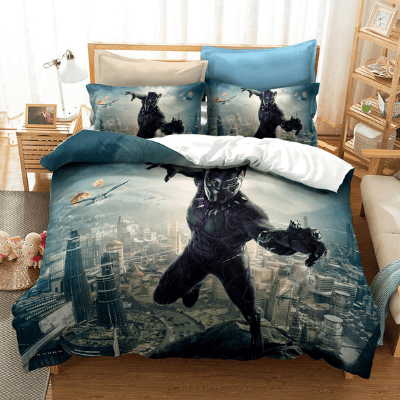 Marvel S Black Panther In Wakanda Awesome Bedding Set Saiyan Stuff Bedding Set Bed Black Panther Marvel