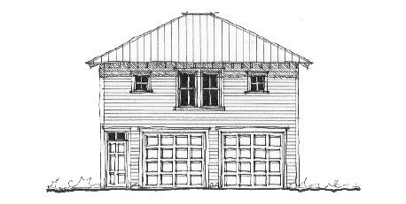 Historic Style 2 Car Garage Apartment Plan Number 73761 ...