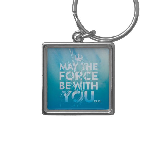 May The Force Be With You Watercolor Keychain