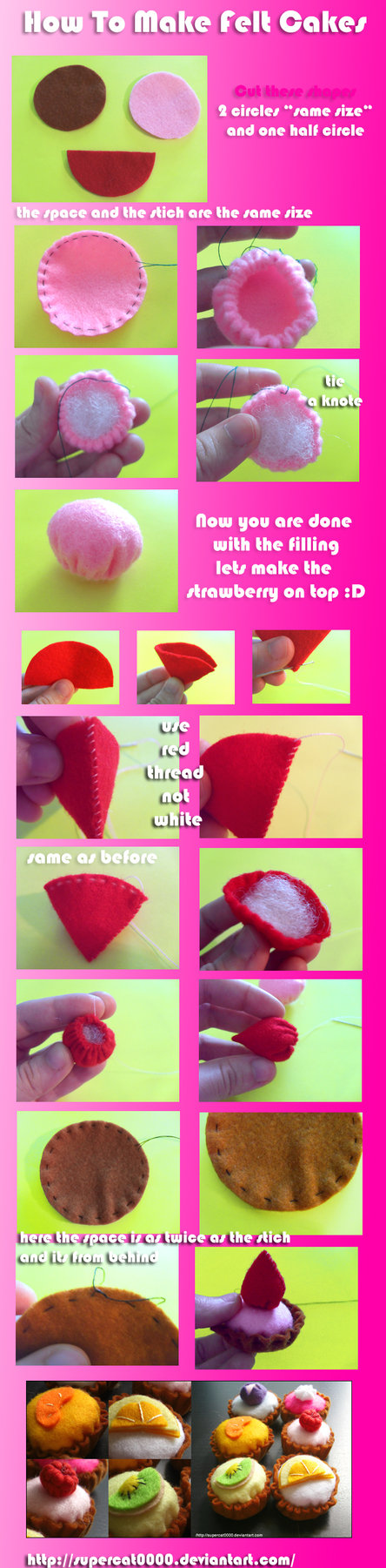 How to make felt cakes by ~SuperCat0000 on deviantART