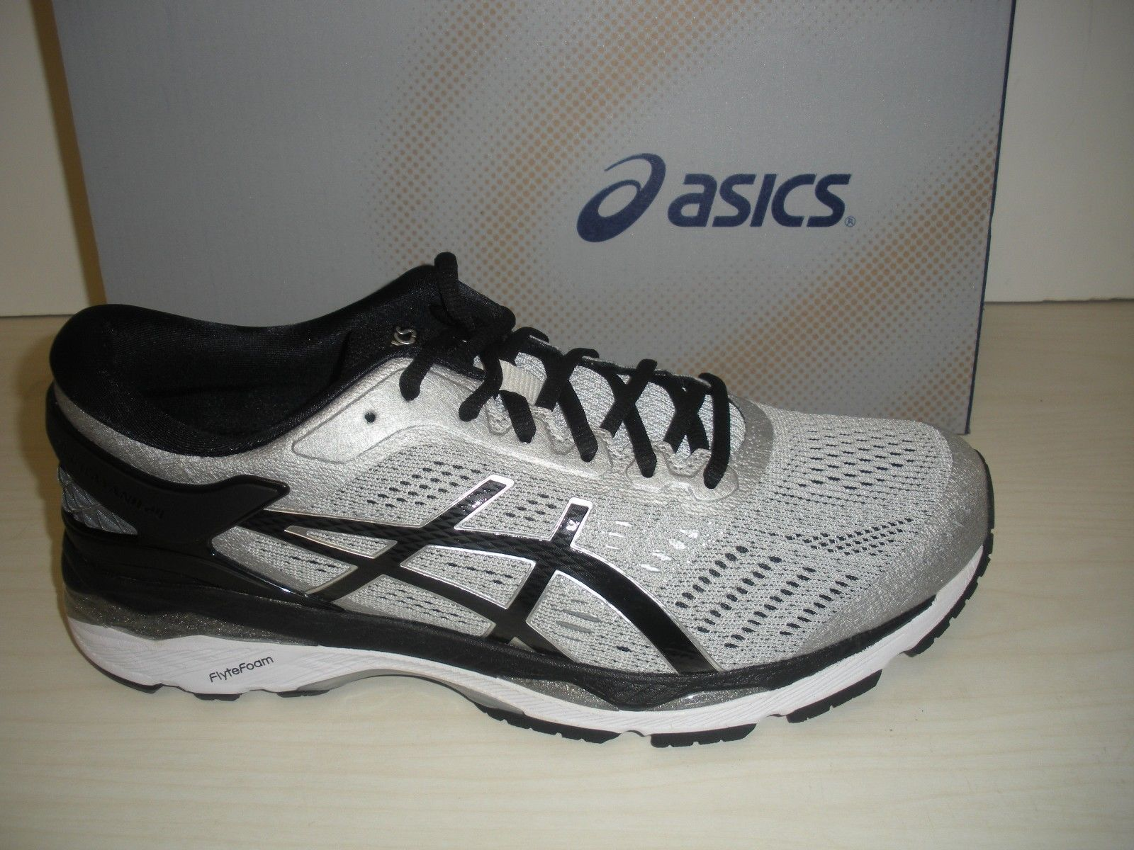0e5f7e366ca ASICS MENS GEL-KAYANO 24 RUNNING SNEAKERS-SHOES-T749N-9390-SILVER  BLACK  M  GREY