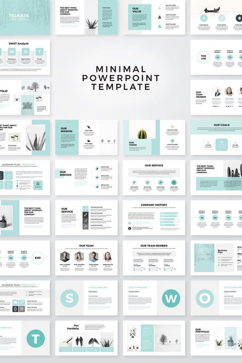 Modèle PowerPoint du plan d'affaires moderne modèle de