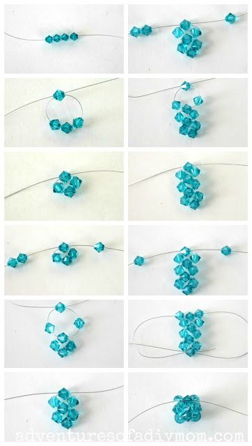 How To Make A Bead Cluster Ring And Earrings Cluster Earrings