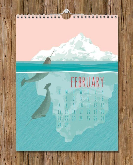 Hang It Up: 15 Of The Most Beautiful Wall Calendars For 2016 (With