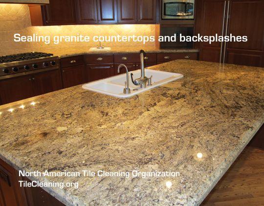 How To Seal A Granite Countertop Sealing Granite Countertops Granite Countertops Countertops